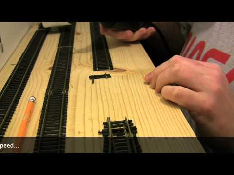 How to cut OO gauge flexible track