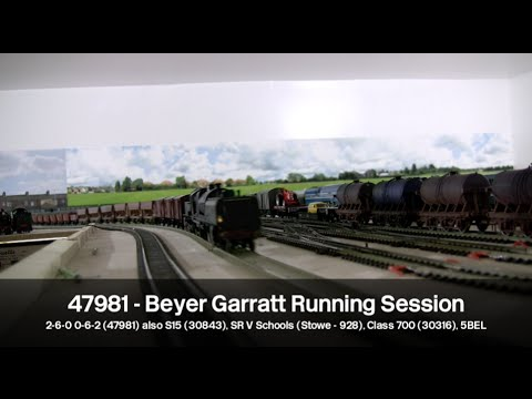Beyer Garratt 2-6-0 0-6-2 Model Railway Running Session
