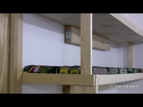 Low cost simple DIY Model Railway Storage Project