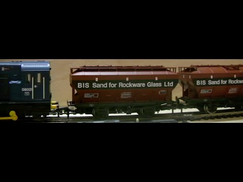 British Rail COVHOP wagons in BIS for Rockware Glass Livery