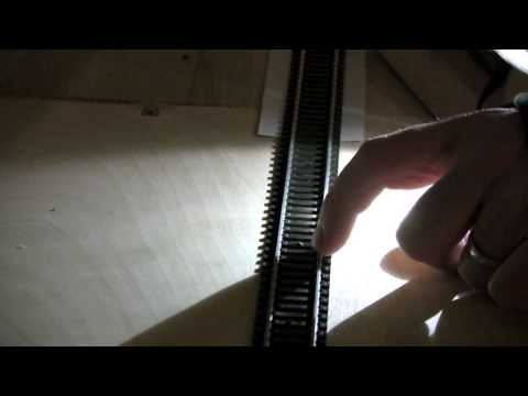 Removing Model Railway Track Pins