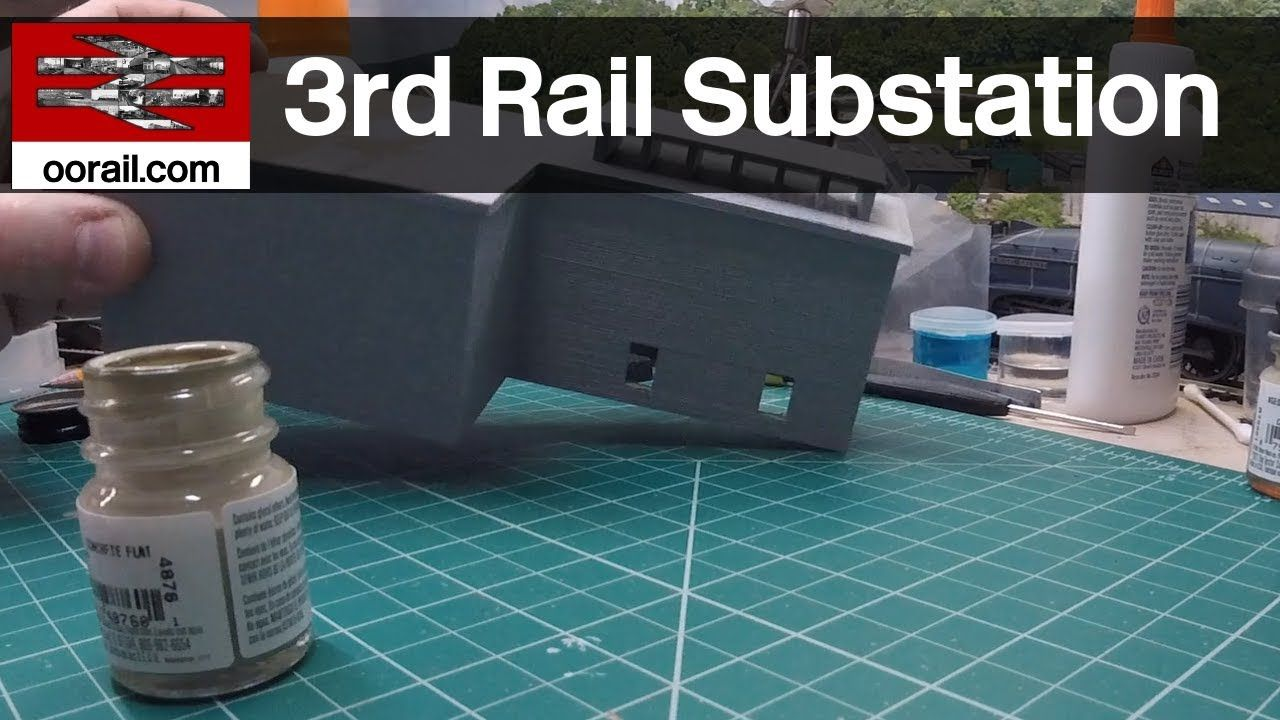 Third Rail Substation - 3D Printed Model Railways